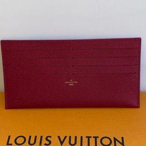 Authentic Louis Vuitton felice card holder fuchsia